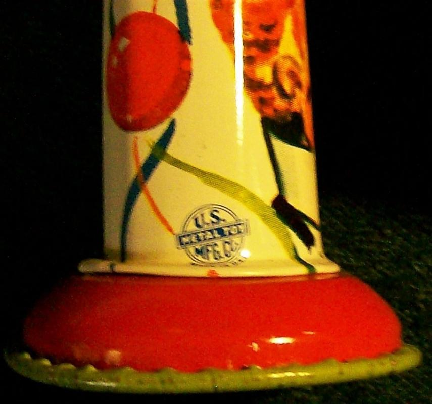 Vintage Tin Noise-Maker Set /3 U.S. Metal Toy 1950s Holiday Party