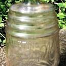 Antique Theodore Netter Philadelphia Bottle Figural Barrel 1890s Advertising Clear Glass 5.75