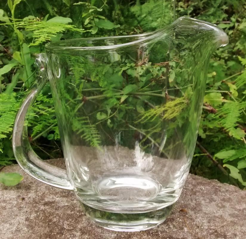 Vintage Fostoria Contour Pitcher #2668/6060 MCM Clear Glass 7.75