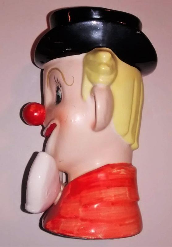 Vintage NAPCO Clown Head Vase #3321 Ca. 1950s 6