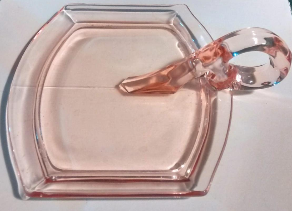 Vintage Indiana Tea Room Pink Tray Only for Cream/Sugar #600 Depression Glass