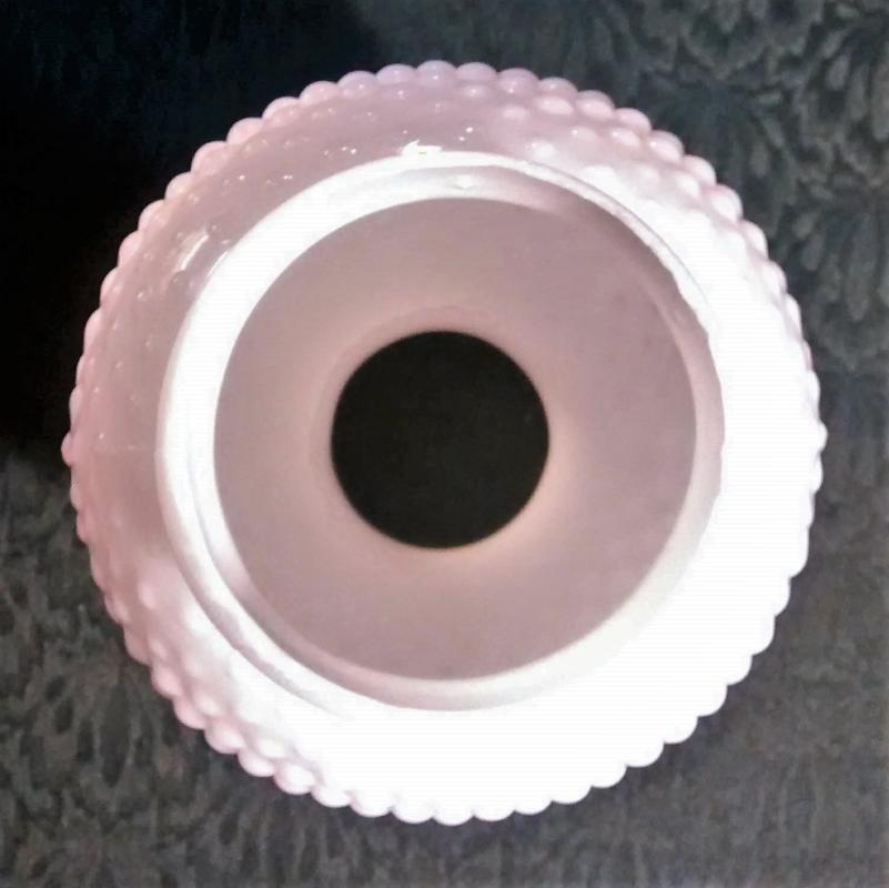 Vintage Milk Glass Hobnail Shade/Chimney 1960s-70s Colonial-Style