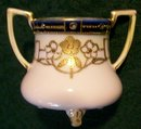 Antique Noritake Nippon Gold-Encrusted Toothpick Holder Cobalt Band