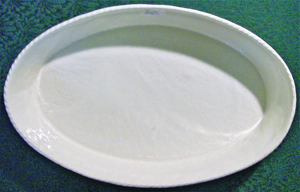 Vintage Stangl Cookrite Oval Baker Textured White 13.75