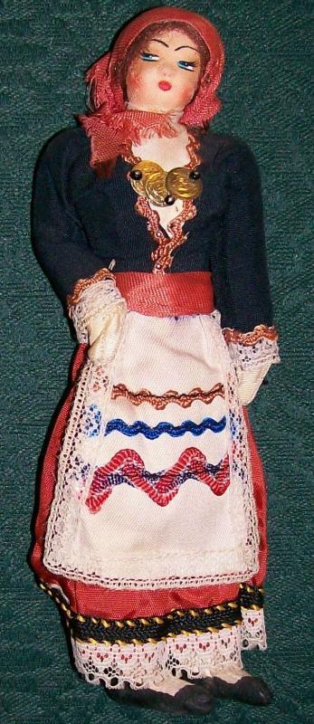 Vintage Eastern European Souvenir Doll Mid-1900's 7