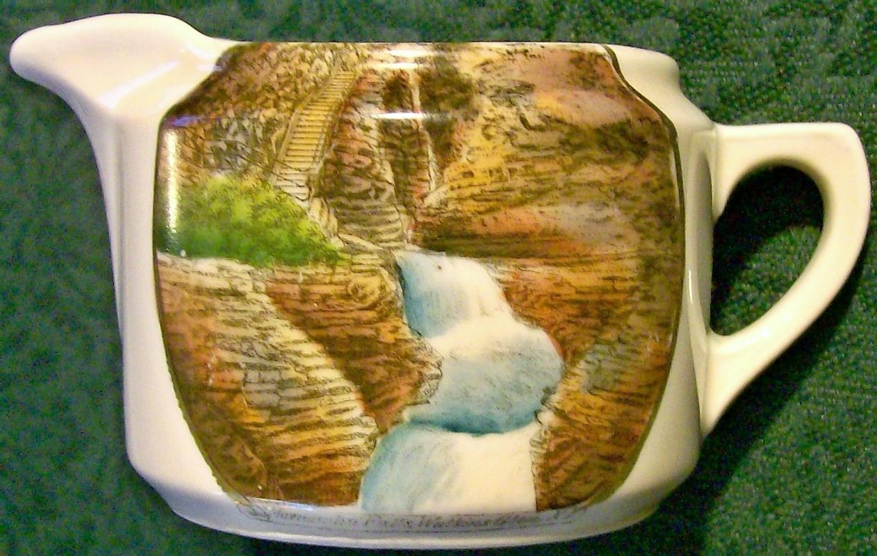 Antique Minnehaha Falls Souvenir Creamer Watkins Glen NY 2 3/8