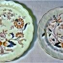 Antique Booth's Fresian Plate Pair 1912+ Cobalt/Rust Red