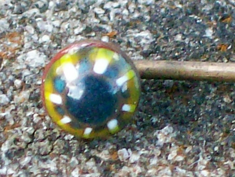 Antique Venetian Glass Scarf/Stick Pin Late 1800s