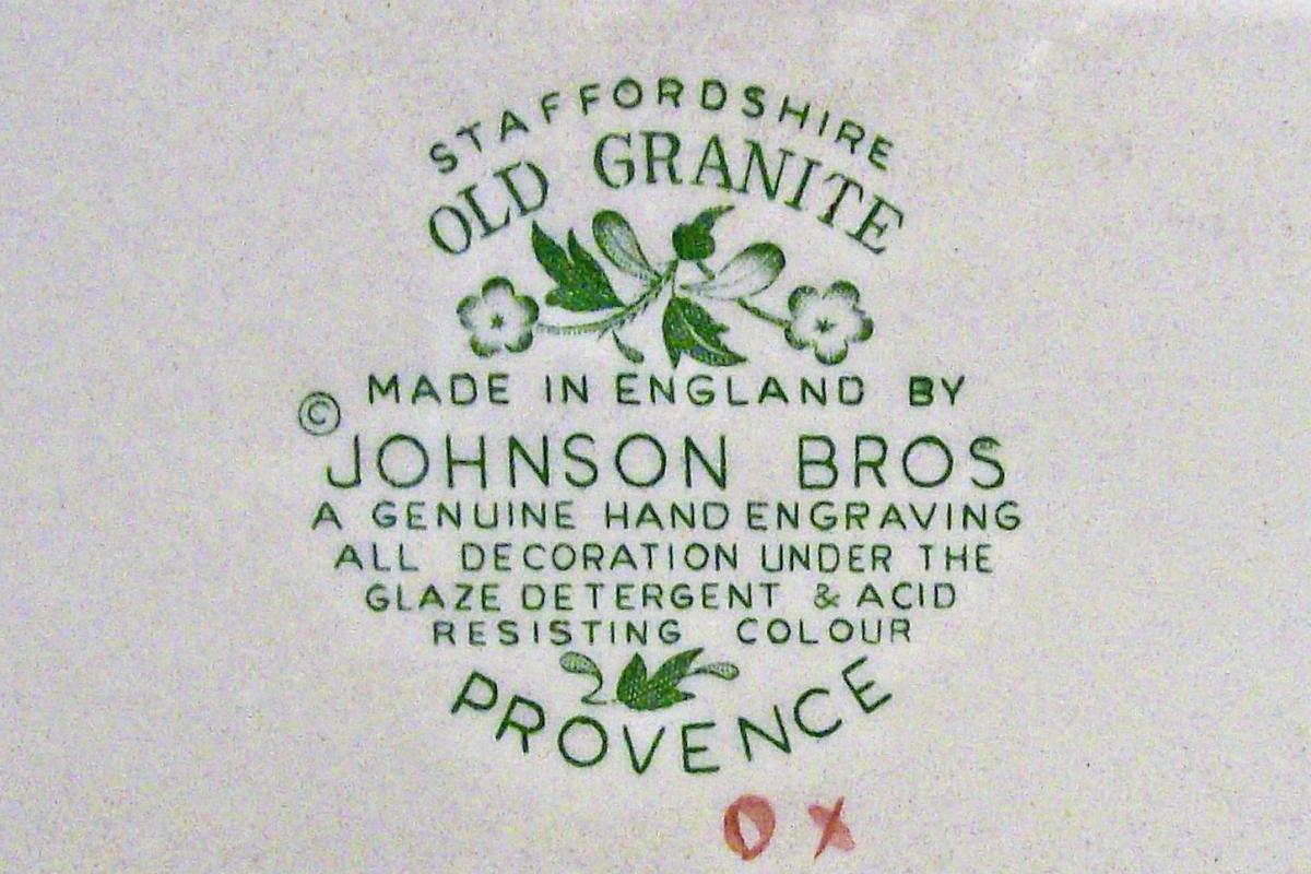 Vintage Johnson Brothers Provence Platter Staffordshire Old Granite