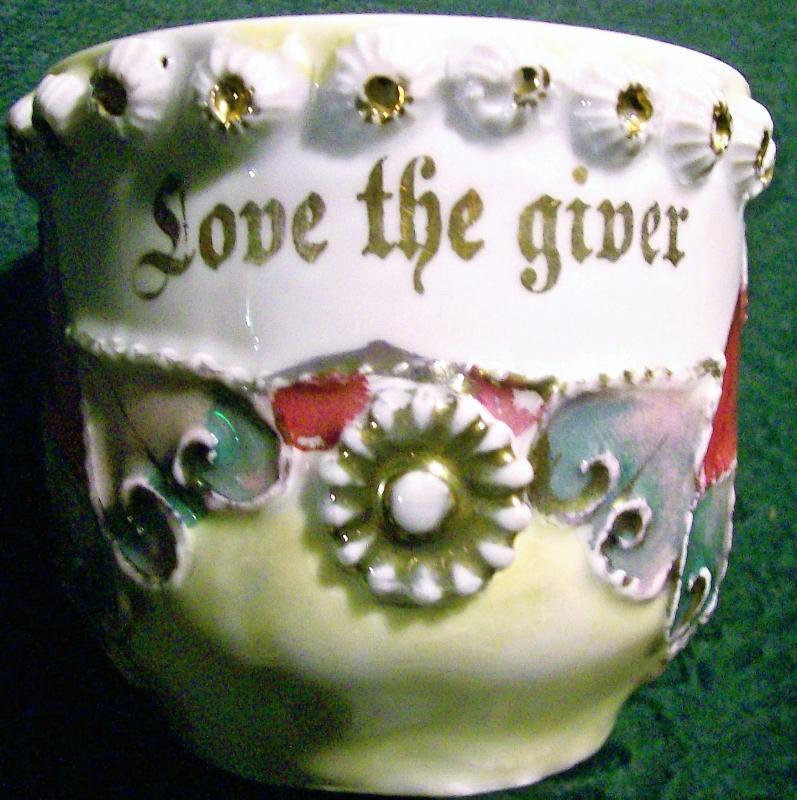 Antique German Motto Cup/Mug