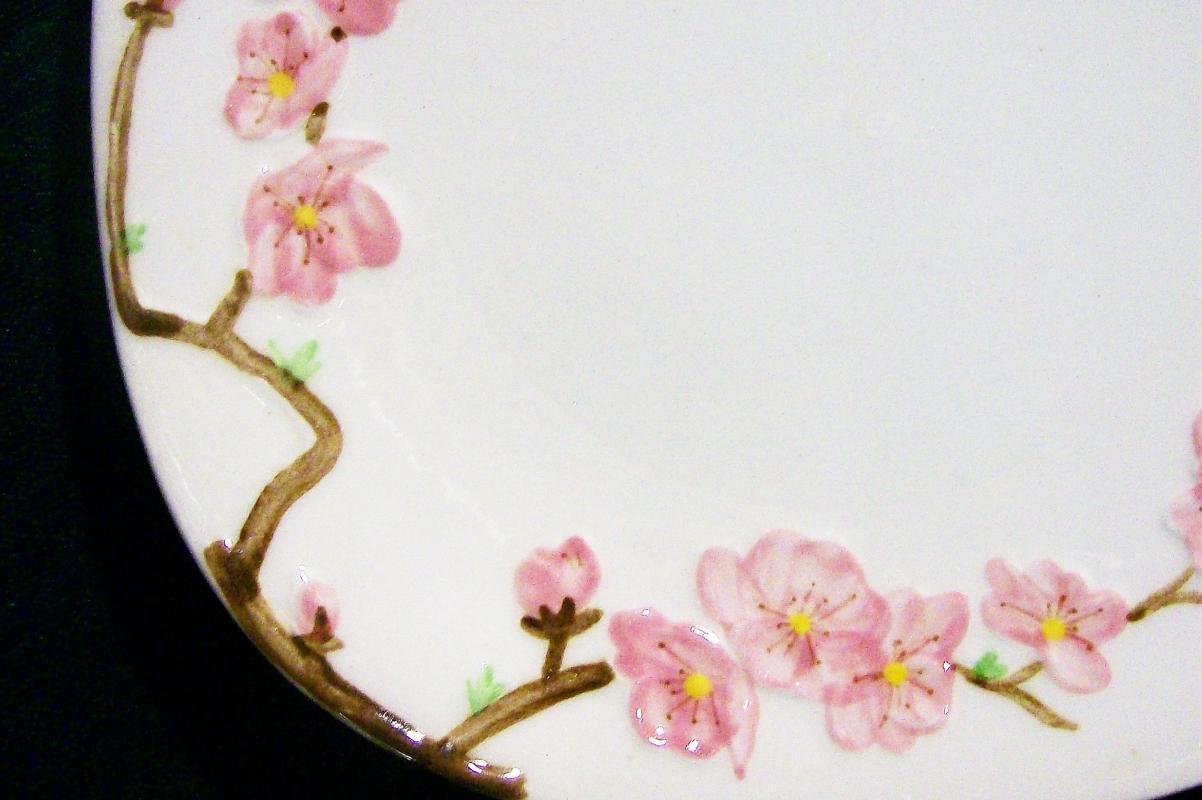Vintage Metlox Poppytrail Peach Blossom Plate Pair Ca. 1952-62 7.75