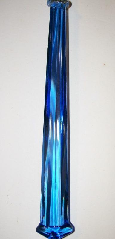 Vintage Depression Glass Fork Cobalt Blue Handle 9.25