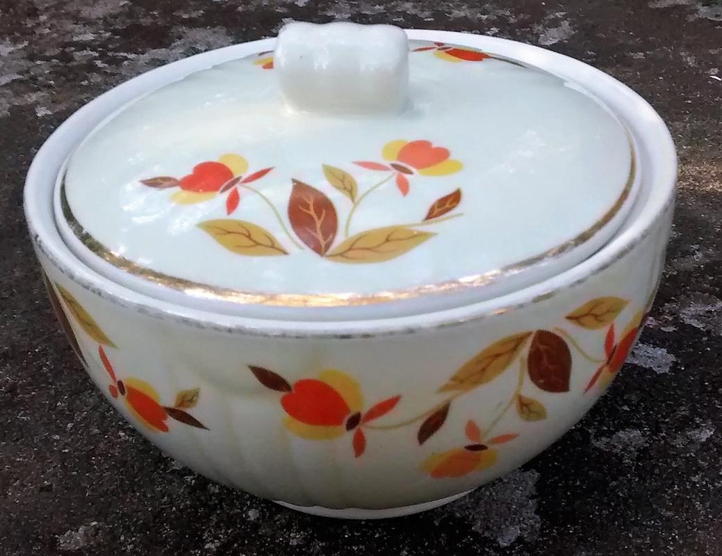 Vintage Hall Autumn Leaf Drippings Jar w/Lid