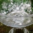Antique Grape with Vine Comport EAPG 1890s Clear Glass