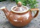 Vintage Fraunfelter Teapot Brown Restaurant Ware Zanesville Ohio