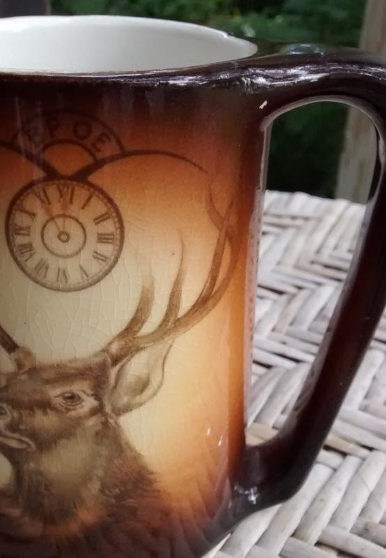 Antique Warwick Ioga BPOE Mug/Tankard Elks Club 1880s-90s