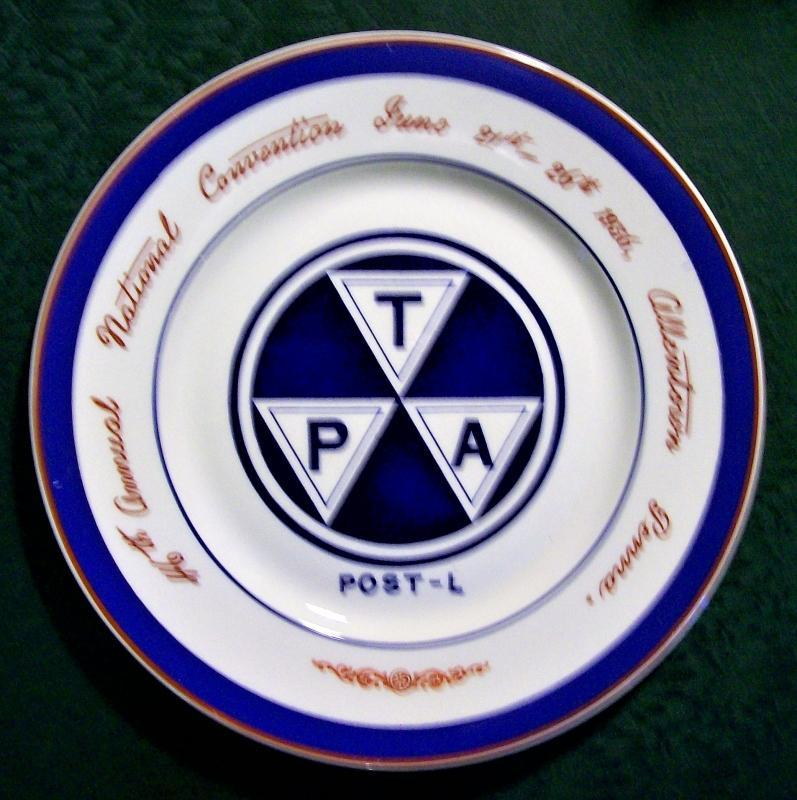 Vintage Traveler's Protective Association Convention Plate Allentown Pennsylvania 1936