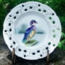 Vintage Wood Duck Plate Wales/Japan HP Reticulated Rim 8