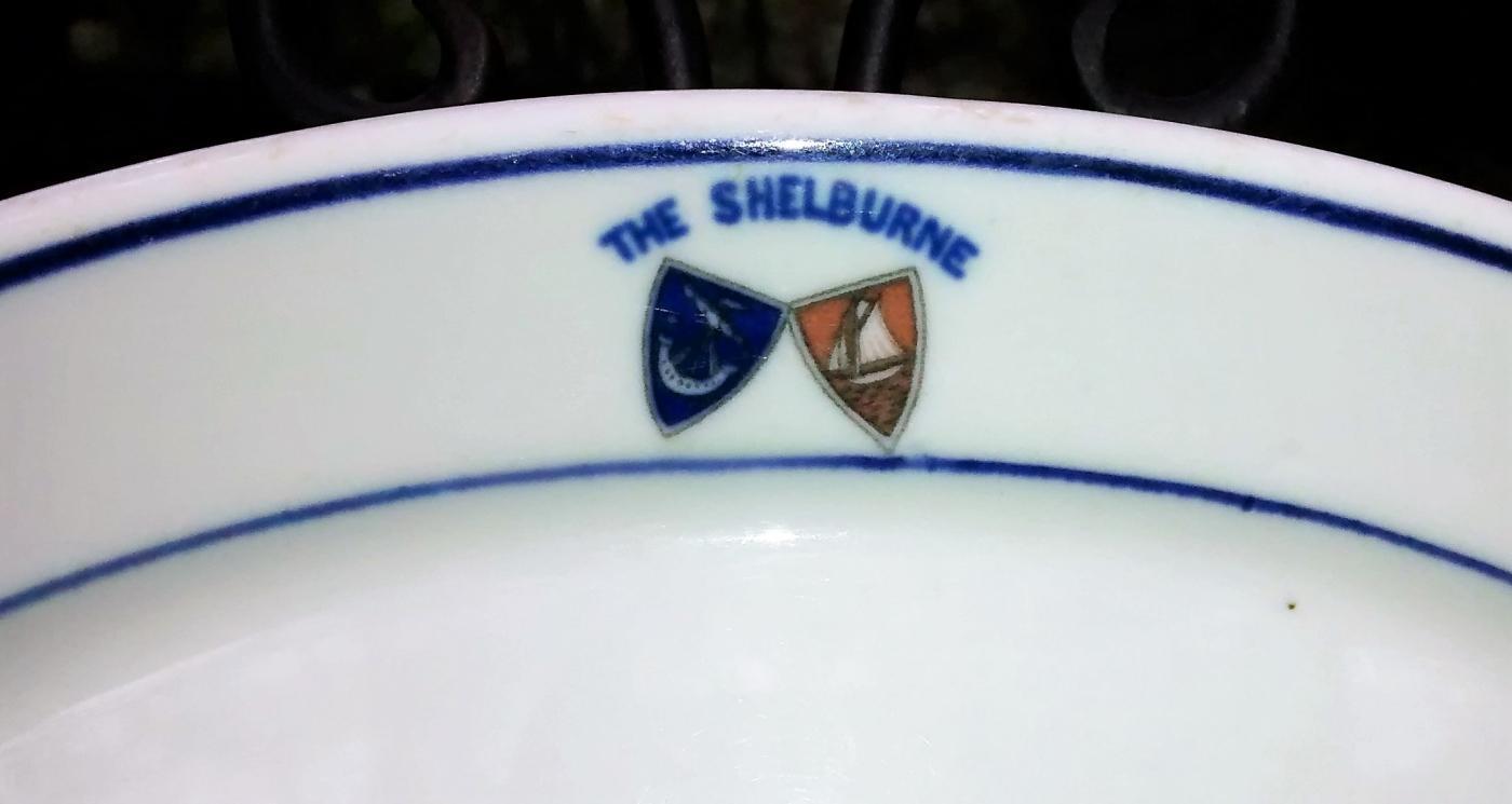Antique Shelburne Hotel Restaurant Plate Atlantic City NJ Ships/Shields