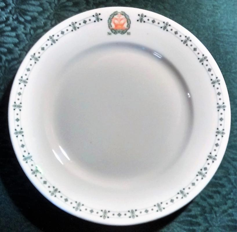 Antique Masonic/Amaranth Order Restaurant Plate Walla Walla Washington Chapter 60
