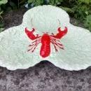 Vintage Carlton Ware Lobster/ Cabbage Leaf Tray #2243 1950s