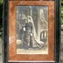 Antique Victorian Photo Arts & Crafts Frame Scary Bride?