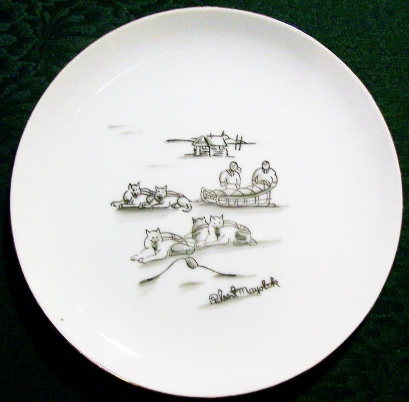 Vintage Mayokok Eskimo/Inupiaq Print Plate Alaska Artist Signed 7.25