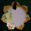 Art Deco Noritake Porcelain Lemon Dish Hand-Painted Lemons Petal Edge