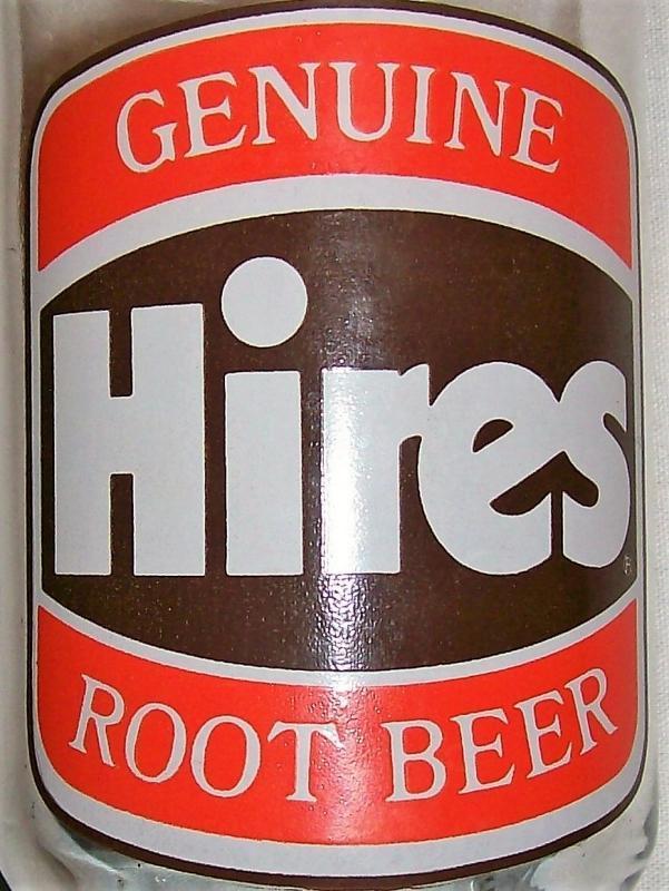 Vintage Hires Root Beer Glass Advertising Tumbler Set/2 1970s Orange/Brown 5.25
