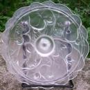 Vintage Fenton Waterlily Crystal Velvet Lid for Candy Dish 5.25