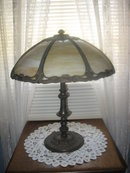 ANTIQUE SLAG PANEL LAMP