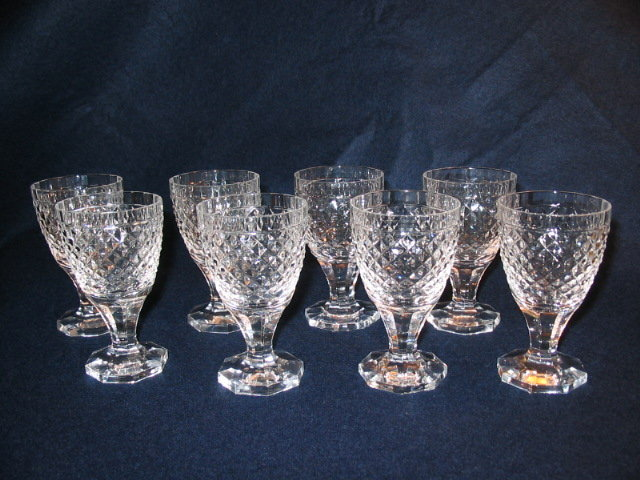 SET OF ORREFORS  CUT WINE STEMS