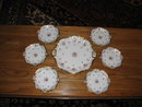 EARLY  H. PAINTED  LIMOGES CAKE SET