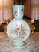 EARLY HAND PAINTED LIMOGES VASE