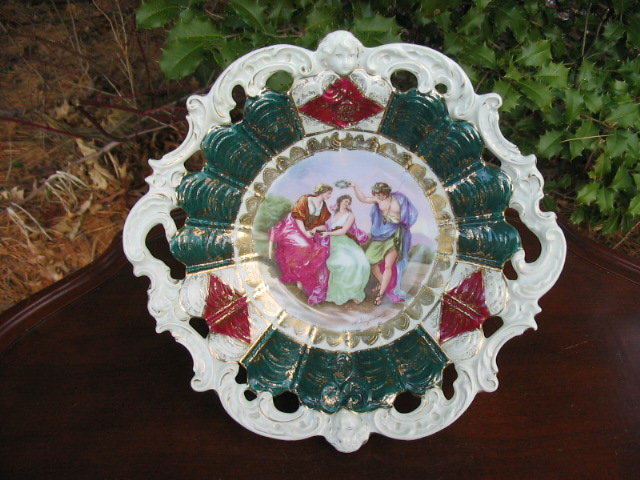 O S PRUSSIA  A KAUFMANN DECORATED BOWL