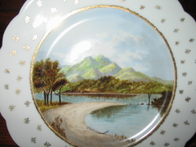 EARLY HAVILAND LIMOGES HAND PAINTED SCENIC