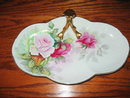 HAND PAINTED LIMOGES ROSES TRAY