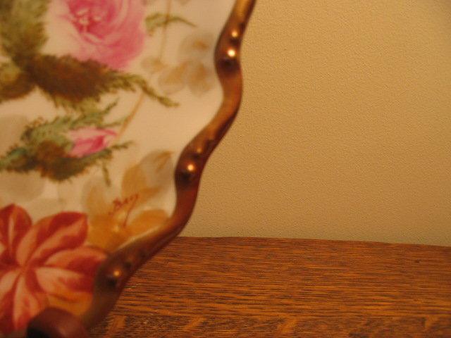 FAMOUS LIMOGES ARTIST ROSE PLATE