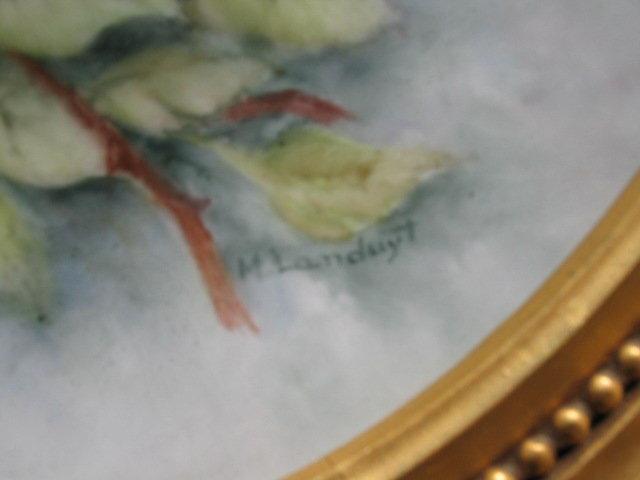 LARGE H.P.  LIMOGES PLACQUE/PLATTER