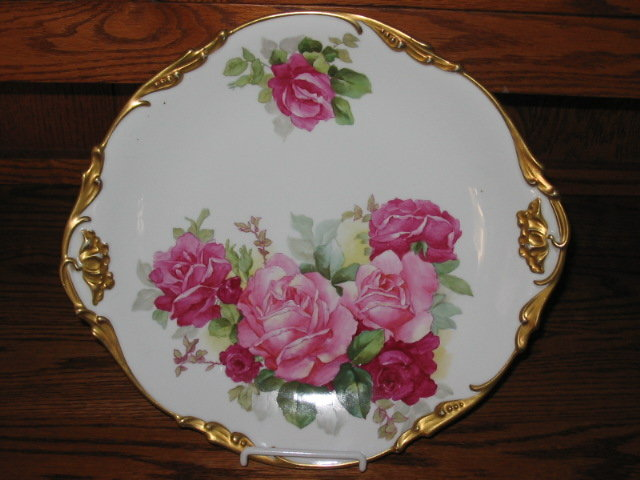 J.P.  LIMOGES H.  PAINTED PLACQUE/PLATE