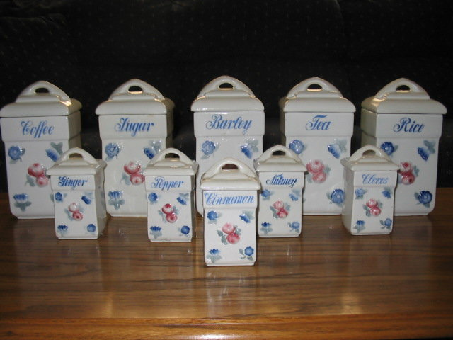 H. P. 10PC.  GERMAN  CANNISTER SET