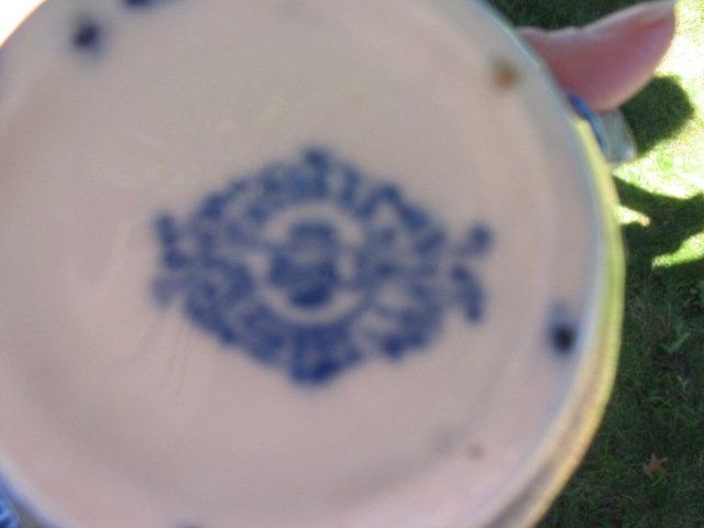 FLOW BLUE STAFFORDSHIRE WASH SET