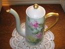 T & V LIMOGES H. P. ROSES TEA POT