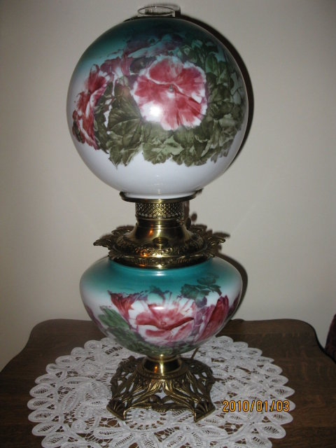 H. PAINTED GONE WITH THE WIND LAMP