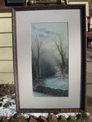 19TH  CENT.  PASTEL SIGNED W. HUNT