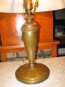 antique reverse painted lamp