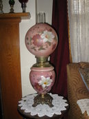 Hand Painted Miller Gone With the Wind Lamp