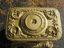 Antique 1848 cast iron parlor stove