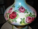 Antique Fostoria  roses gone with the wind lamp
