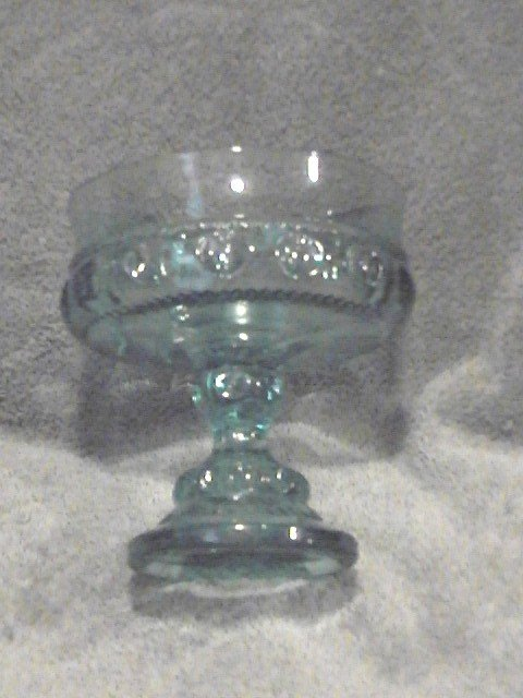 Thumbprint Blue Compote by Indiana